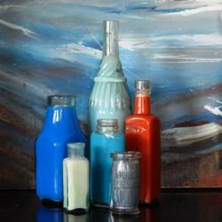 Old bottles found under the studio