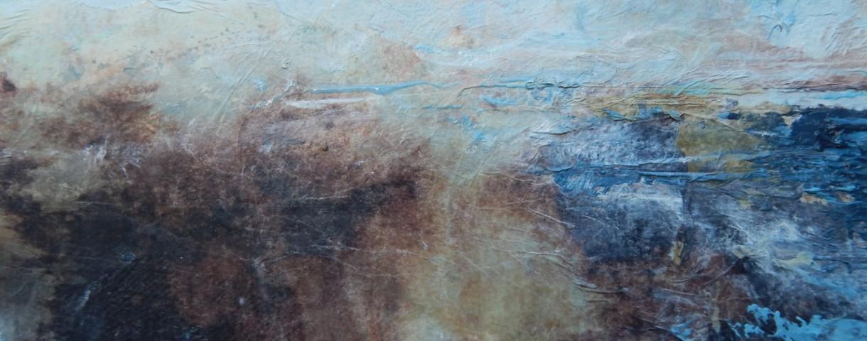 Mixed media on paper. 48 x 39cm. Framed under glass