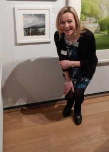 At the Private View with my painting 'Proclaim'