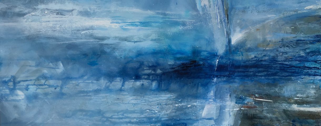 £3,000 Mixed media on canvas. 157 x 107cm. Framed