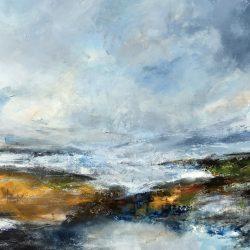 £2,000 Mixed media on canvas. 104 x 104cm. Framed