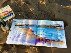 Sketchbook and painting art classes with Tracey Ross