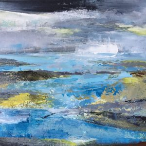 Tracey Ross, artist, blue seascape