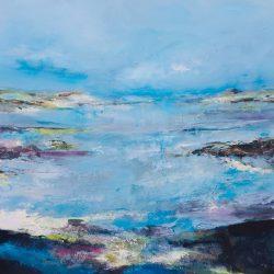 £2,000 Mixed media on canvas. 104 x 104cm framed