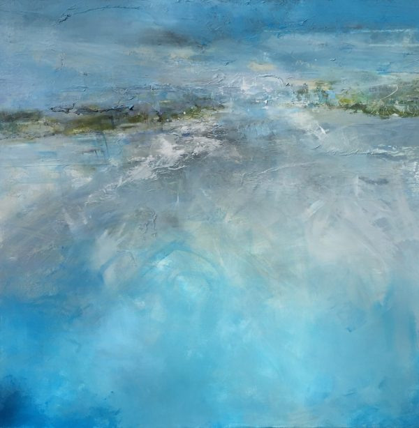 Tracey Ross Artist Bright blue se and sky