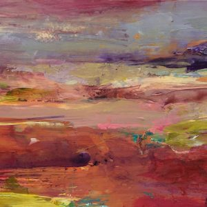 Warm pinks and orange sunset colours by Tracey Ross Artist