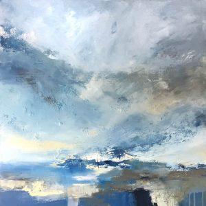 £1750 Mixed media on canvas. 93 x 93cm. Framed
