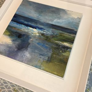 Seascape painting in a frame
